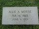 Profile photo:  Allie Alfred Morse