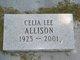 Profile photo:  Celia Lee Allison