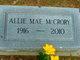 Profile photo:  Allie Mae <I>Green</I> McCrory