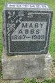 Mary <I>Bentley</I> Abbs