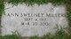 Profile photo:  Ann <I>Sweeney</I> Miller