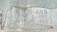 Roxie Ann <I>Fleenor</I> Boswell
