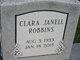 Profile photo:  Clara Janell <I>Smith</I> Robbins