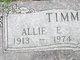 "Profile photo:  Elmer E. ""Allie"" Timmons"
