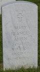 Mary Frances <I>Wilkes</I> Allen