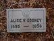 Profile photo:  Alice V. Cooney