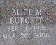 Profile photo:  Alice M Burgett