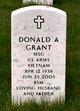 Sgt Donald Albert Grant