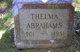 Profile photo:  Thelma <I>Covender</I> Abrahams