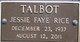 Jessie Faye <I>Rice</I> Talbot