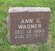 Profile photo:  Ann L. <I>Gibbons</I> Wagner