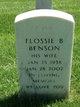 Profile photo:  Flossie B Benson