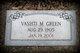 Vashti M <I>Smith</I> Green