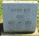 Profile photo:  Albion Roy King