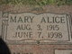 Mary Alice <I>Humphrey</I> Lane