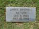 Profile photo:  Janice Ellen <I>Braswell</I> Acton