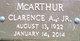 """Clarence Alexander """"Mac"""" McArthur Jr."""