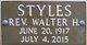 Rev Walter Hugh Styles
