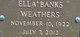 Ella Banks <I>Weathers</I> Boyle