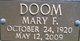 Mary F. Doom
