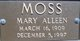 Mary Alleen Moss