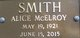 Alice McElroy Smith