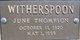 June <I>Thompson</I> Witherspoon