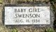 Infant female Child Swenson