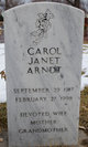 Profile photo:  Carol Janet Arndt