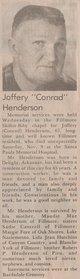 Joffery Conrad Henderson