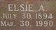 Profile photo:  Elsie A <I>Holland</I> Wagner
