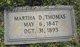 Martha D. <I>Fare</I> Thomas