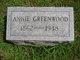 Annie Greenwood