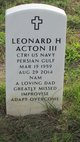 Leonard H. Acton, III