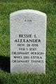 Profile photo:  Bessie Lee Alexander