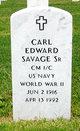 Profile photo:  Carl Edward Savage, Sr