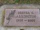 Profile photo:  Bertha Cloe <I>Whiteley</I> Arrington