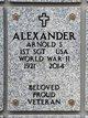 Profile photo:  Arnold S Alexander
