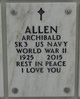 Profile photo:  Archibald Allen