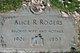 Profile photo:  Alice R. Rogers