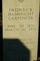 Profile photo:  Fredrick Hambright Carpenter
