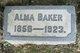 Profile photo:  Alma Baker