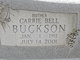 Profile photo:  Carrie <I>Bell</I> Buckson