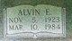 Profile photo:  Alvin Edward Beyer, Sr