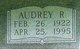Profile photo:  Audrey Ruth <I>Lindquist</I> Beyer