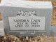 Sandra <I>Davidson</I> Cain