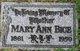 Mary Ann Bice
