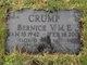 Bernice Maude Eugenie <I>Vassell</I> Crump