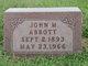 Profile photo:  John Martin Abbott, Sr