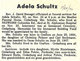 Profile photo:  Adela Schultz